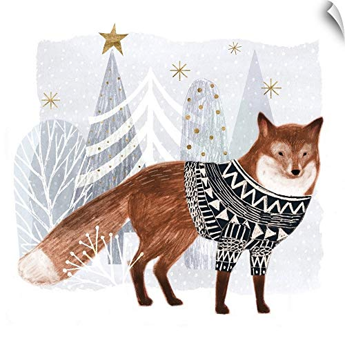 - CANVAS ON DEMAND Cozy Woodland Animal I Wall Peel Art Print, 20