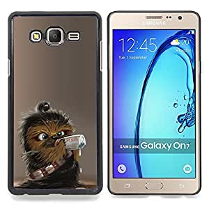 - Cute Wookie Chewie Star War - - Cubierta del caso de impacto con el patr??n Art Designs FOR Samsung Galaxy On7 G6000 Queen Pattern