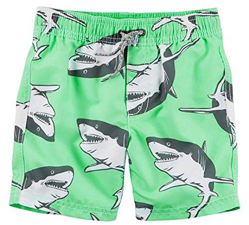 Carter's Toddler Boys' Trunk, Mint Shark, 2T