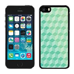 New Personalized Custom Designed For iPhone 5C Phone Case For 3D Green Cubes Pattern Phone Case Cover