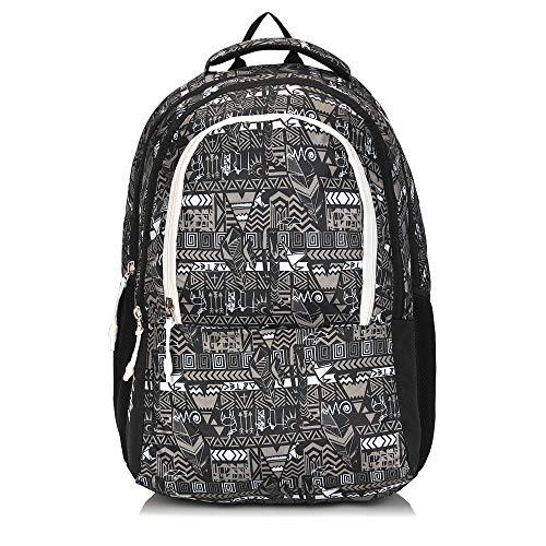 Wesley Aztec 15.6 inch 34 L Casual Waterproof Laptop Backpack/Office Bag/School Bag/College Bag//Unisex Travel Backpack (Black)