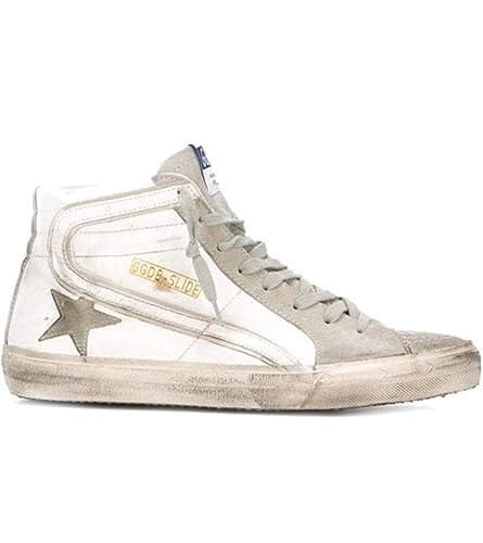 Golden Goose Hombre GCOMS595M1 Blanco Cuero Zapatillas Altas: Amazon.es: Zapatos y complementos