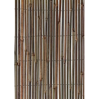 Ultra Durable Natural Look Bamboo Wood Fence, 13'W x 5'H