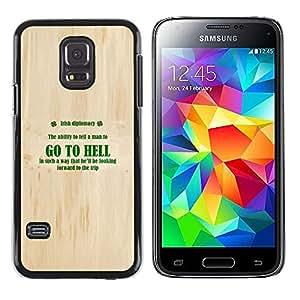 Stuss Case / Funda Carcasa protectora - Go To Hell - Irish Diplomacy - Samsung Galaxy S5 Mini, SM-G800