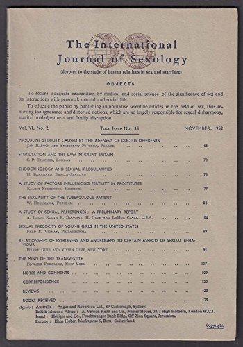 International Journal of Sexology #35 Transvestite Endocrinology ++ 11 1952