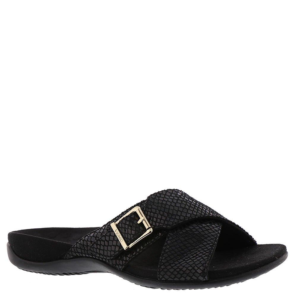 Vionic Women's Dorie Slide Sandal Black Snake 11 M