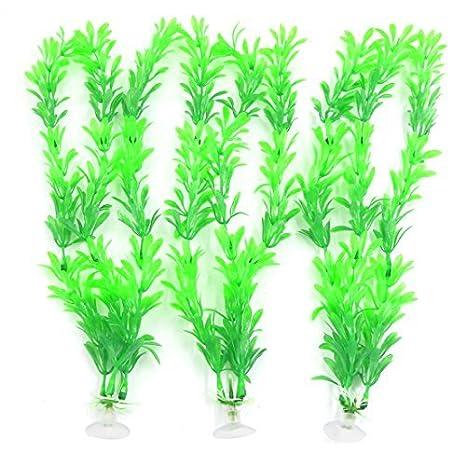 Planta de plástico de 30 cm de alta DealMux verde aguamarina acuario paisaje con ventosa: Amazon.es: Productos para mascotas