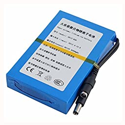 Eachbid 12V Super Rechargeable Battery Pack DC 8000mAh