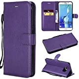 Samsung Galaxy S6 Edge Plus Case, SHUYIT Retro Color Pattern PU Leather Case Book Flip Wallet Case Cover with Card Slots Stand Magnetic Closure Folio Shell Case for Samsung Galaxy S6 Edge Plus