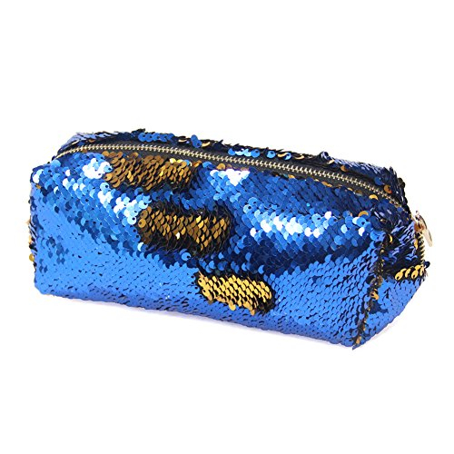 Reversible Bag Pattern (MHJY Mermaid Sequin Cosmetic Bag Magic Sequins Makeup Pouch Fashion Color Changing Makeup Bags DIY Reversible Sequins Handbag Glitter Pencil Case)
