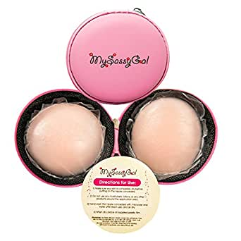 MySassyGal Silicone Petal Covers Ups (1 Pair)- Thin, Reusable, Concealer Pasties (Nude)
