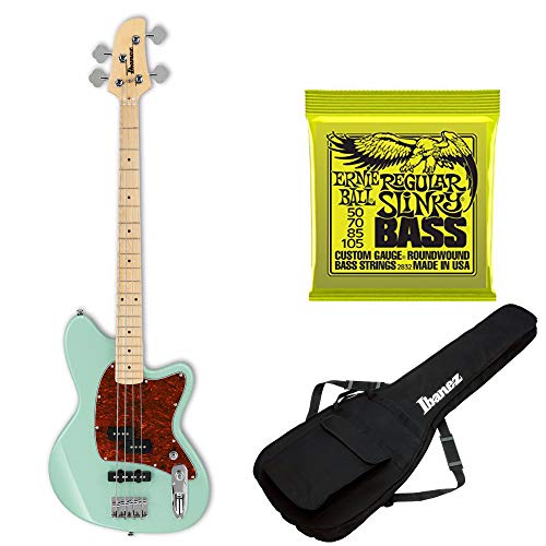 Ibanez TMB100M Talman Electric Bass Guitar (Mint Green) Includes Extra Bass Strings and Gig Bag