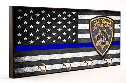 Thin Blue Line California Highway Patrol Key Hanger