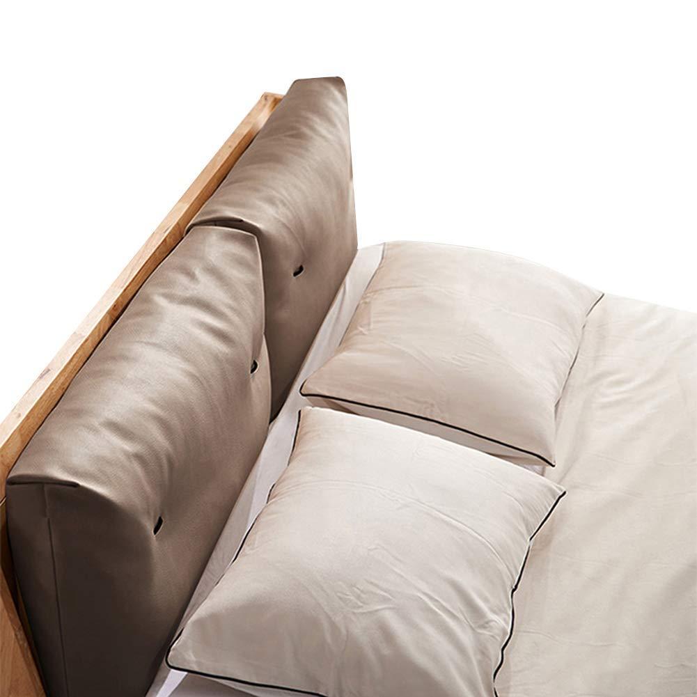 GUOWEI ベッドサイドクッション 布張りヘッドボード ダブルソフトケースバックレストサポート 6色 4サイズ 100x50cm 100x50cm ダークブラウン B07MR9GY1N