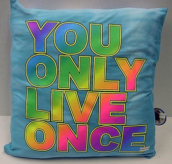 Bunk Junk You Only Live Once Autograph Pillow for Sleep Away Camp, Birthdays, Parties and Family Events