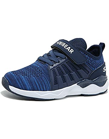 12e9f223130efb HOBIBEAR Kids Breathable Knit Sneakers Lightweight Mesh Athletic Running  Shoes