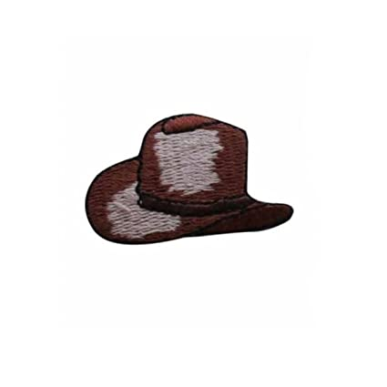 c4702bceffdf1 Image Unavailable. Image not available for. Color  ID 1373A Cowboy Hat  Patch Rodeo Farm Ranch Cap Embroidered Iron On Applique