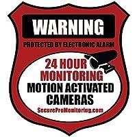 10 REAL Red Burglar Alarm Video Surveillance Security Decals Door & Window Stickers