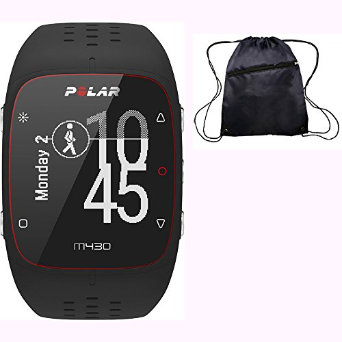 POLAR M430 Wrist-Based Heart Rate GPS Running Watch Black with Cinch Bag