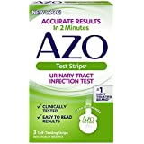 AZO Test Strips - Urinary Tract Infection Test - Accurate Results in 2 Minutes - Clinically Tested - Easy To Read Results - 3 Individually Wrapped Self Testing Strips (Packaging may vary)