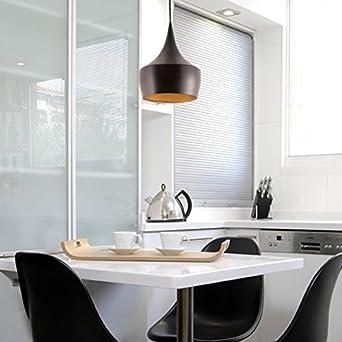 Unimall Pendelleuchte Modern Hängeampe Schwarz Design Innen Gold E27 Für  Wohnzimmer Schlafzimmer Essbereich Küche Flur