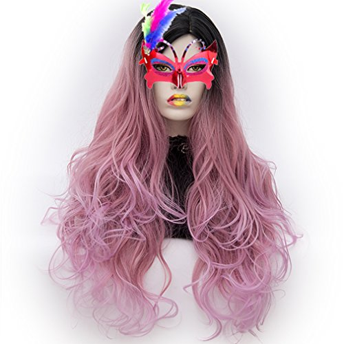 Halloween Accessories Toronto (Long Cosplay Wigs Curly Heat Resistant Spiral Costume Wigs Anime Fashion Wavy Daily Party 30
