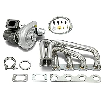 High Performance Upgrade T04E T3 3pc Turbo Kit - BMW M10 l4 4Cyl Engine