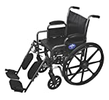 Medline Easy-to-Clean and Durable Wheelchair with Removable Desk Arms and Elevating Leg Rests