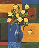 Oil Painting 'Yellow Flowers In The Blue Vase', 12 x 15 inch / 30 x 38 cm , on High Definition HD canvas prints is for Gifts And Bath Room, Home Office And Powder Room Decoration, graphs