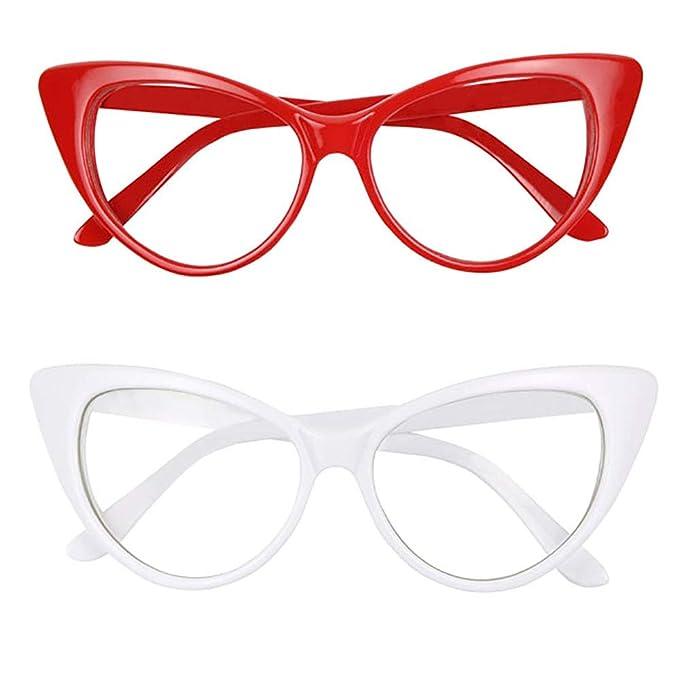 Amazon.com: ShadyVEU - Gafas de sol con lentes transparentes ...
