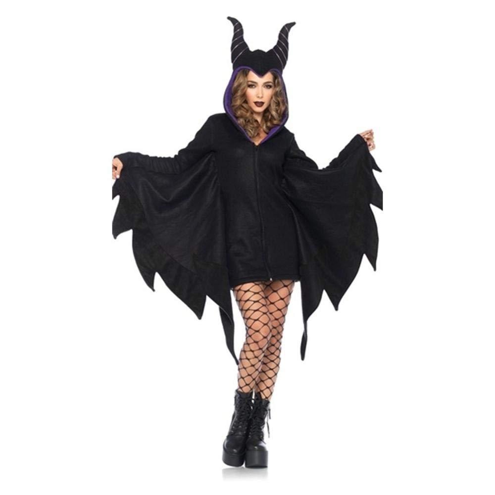 Shisky Halloween kostüm Damen, Hexenkostüm Halloween Dämon Horn Bühne Cosplay Leistung Kostüm Masquerade Bühne Horn 44de67