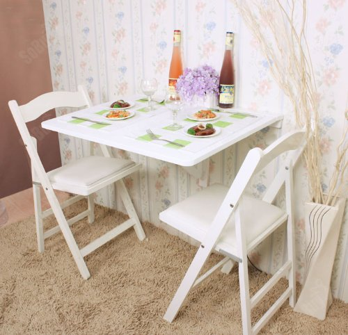 Wonderful Amazon.com: Haotian Folding Wall Mounted Drop Leaf Table, Dining Table  Desk, White, FWT01 W: Kitchen U0026 Dining