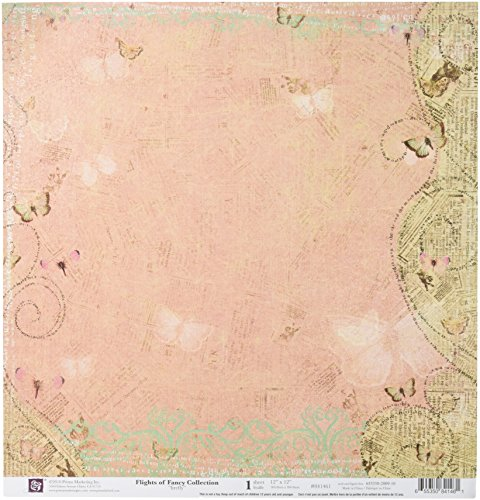 Prima 841461 12 by 12-Inch Flights of Fancy Double Sided Patterned Cardstock Paper, Firefly, 10-Pack