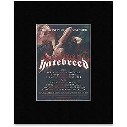 HATEBREED - UK Tour 2013 Version 2 Mini Poster - 13.5x10cm