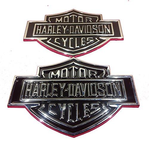 Two Metal F-150 Harley Davidson Motorcycle Emblem Badge Decal - Motorcycle Tank Emblems