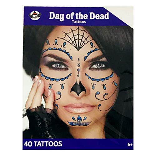 Day Of The Dead Facial Tattoos (Girls 40