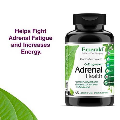 Adrenal Health - with Sensoril Ashwagandha for Improved Energy Levels, Sleep Support, Stress Relief, Promotes Mental Clarity - Emerald Laboratories - 60 Vegetable Capsules by Emerald Laboratories (Image #4)