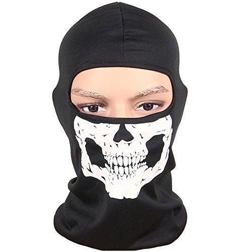 Ninja Skull Mask (Olyeem Balaclava Ghosts Skull Full Face Mask for Cosplay Party Halloween Outdoor Motorcycle Bike Cycling Skateboard Hiking Skiing Snowmobile Snowboard)