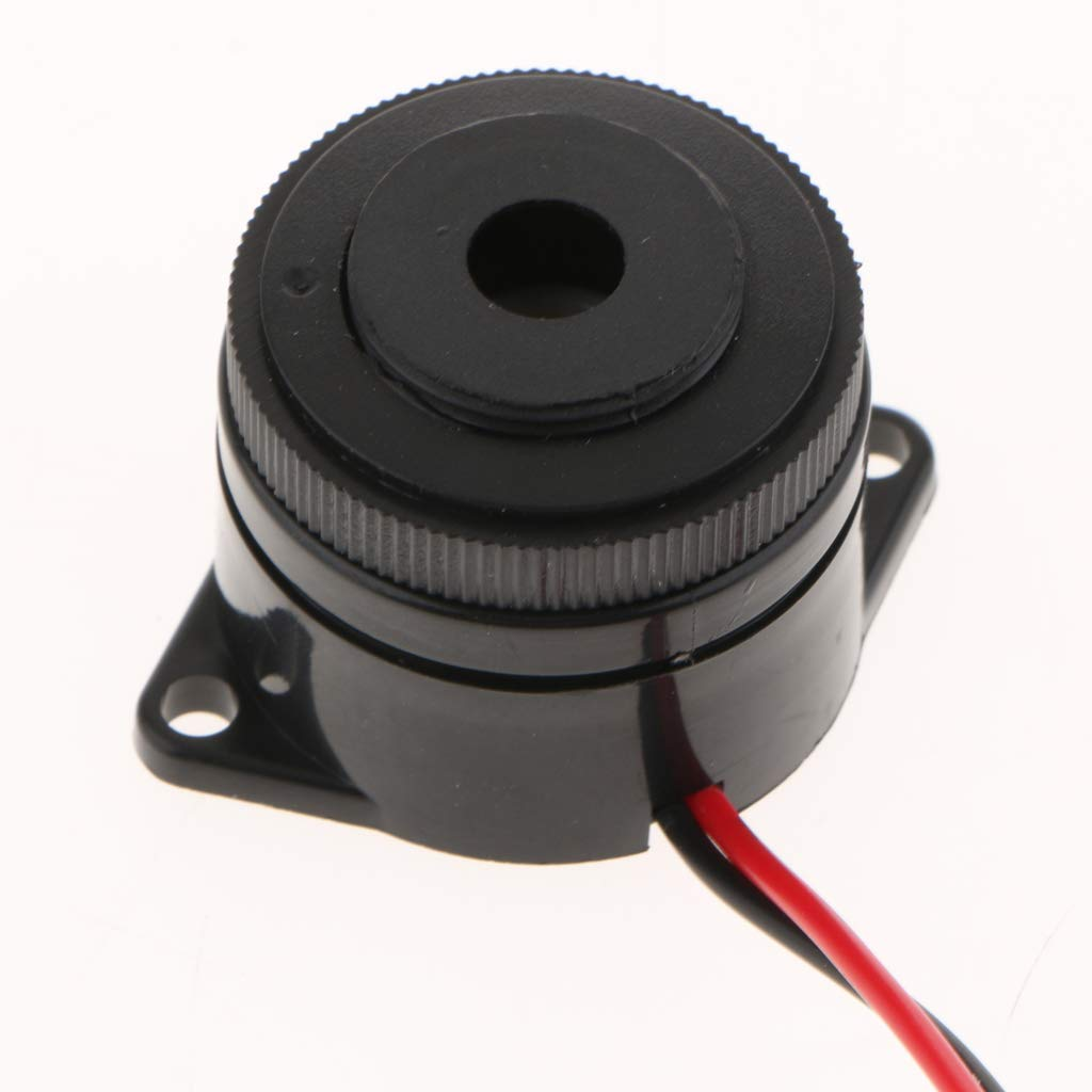 Buzzer for Electronic Doorbells and Electronic Toys~ 2 Channels Stereo with Continuous Sound Beeper MagiDeal DC24V Alarm Piezo Buzzer