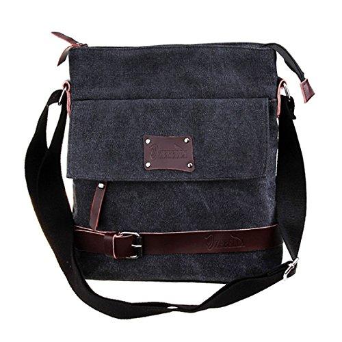 Men's Vintage Canvas L Messenger Shoulder Cross body Bag by ZEBELLA