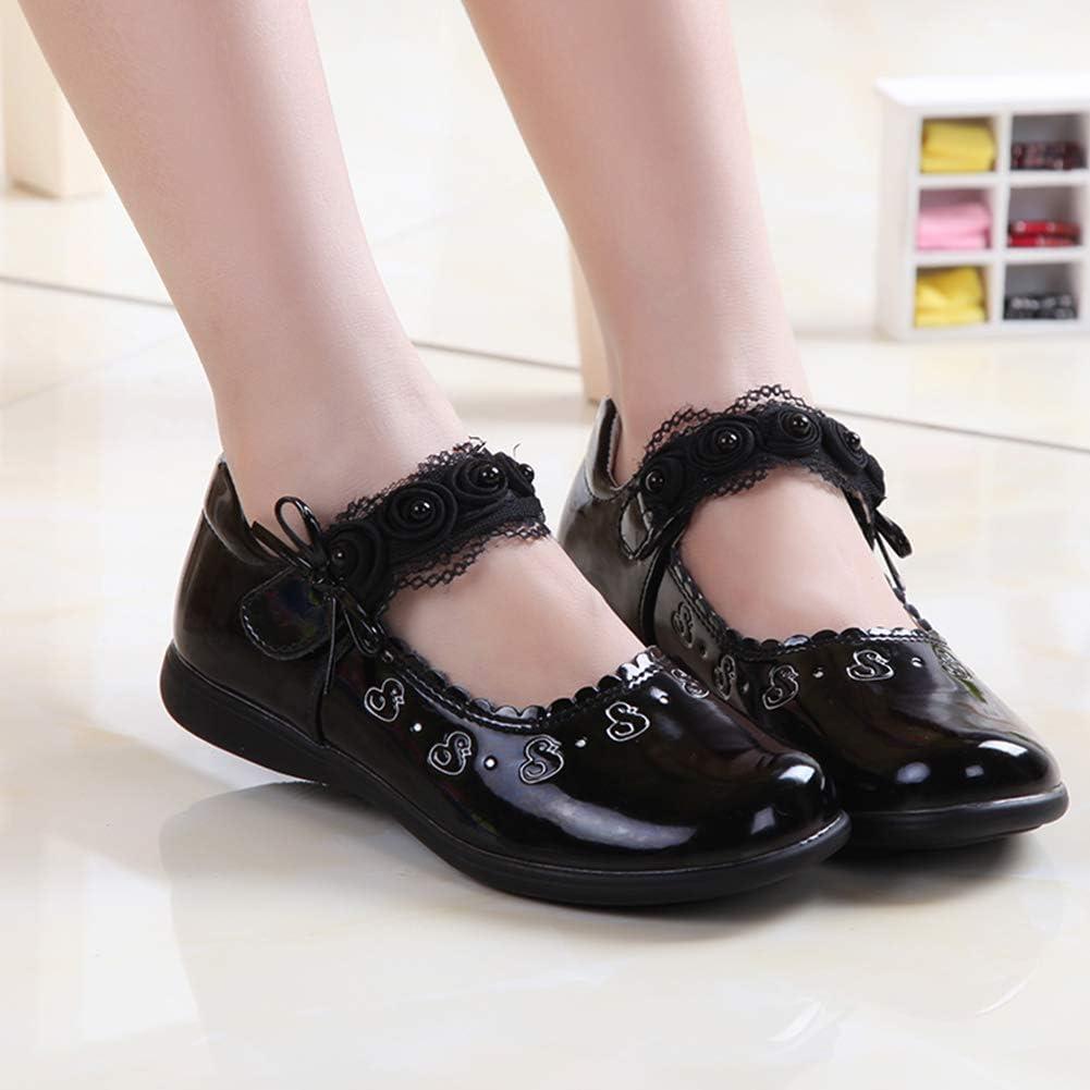 Girl Princess Shoes Low Heel Dance Performance Shoes Cute Non-Slip Cushioning Casual Single Shoes