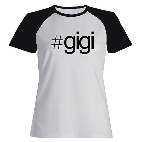 Idakoos Hashtag Gigi - Nomi Femminili - Maglietta Raglan Donna