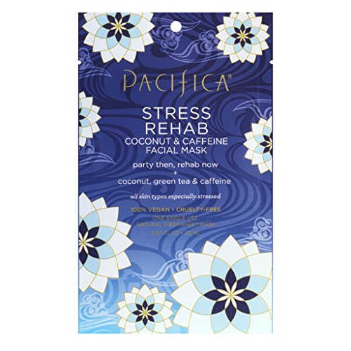 Pacifica Beauty Stress Rehab Coconut & Caffeine Facial Mask, 0.67 Ounce