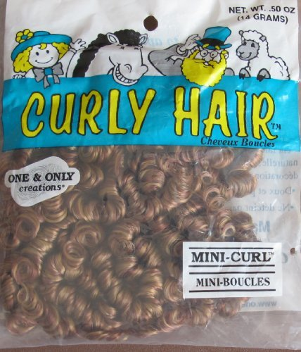 One & Only Craft 'MINI CURL' CURLY DOLL HAIR Pack .50 Oz. AUTUMN & STRAWBERRY Color TWO TONE Doll Hair (1996)