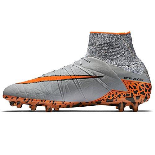 Nike Hypervenom Phantom Ii Fg 747213-080 Grigio / Arancione / Nero Tacchetti Da Calcio Uomo Lupo Grigio / Totale Arancione / Nero / Nero