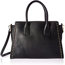 The Fix Audrey Medium Studded Leather Satchel with Top Zip