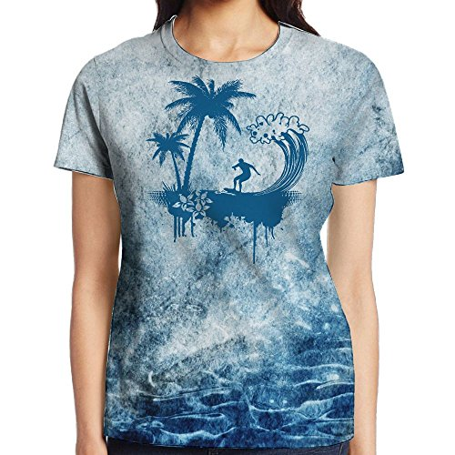 Octopus Bully Mens Surf In Tropic Coconut Tree Silhouette Cool T-Shirts