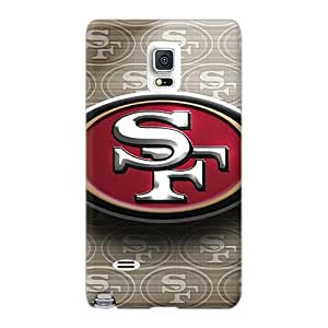 AshtonWells Samsung Galaxy Note 4 Shock-Absorbing Hard Phone Cover Custom Lifelike San Francisco 49ers Pattern [LwA15150bNwy]