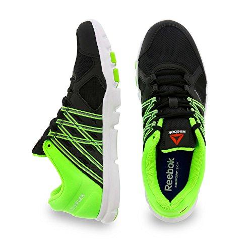 Reebok Yourflex Train 8.0 - Zapatillas de deporte, Hombre Negro / Verde / Blanco