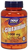 NOW Foods L-Glutamine 1,000 Milligram, 120 Capsule